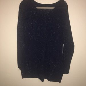 NWT! a.n.a.  Navy Blue X-Large Sparkly Sweater